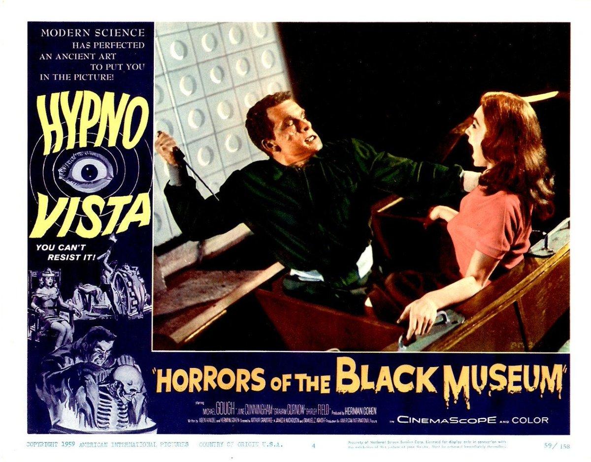 """Dr. Giallo on Twitter: """"HORRORS OF THE BLACK MUSEUM (1959) #horror ..."""