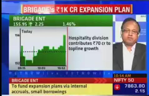 #BRIGADE EXPANSION PLAN: To fund Rs 1K Cr #expansion plans via internal #accruals, small #borrowings