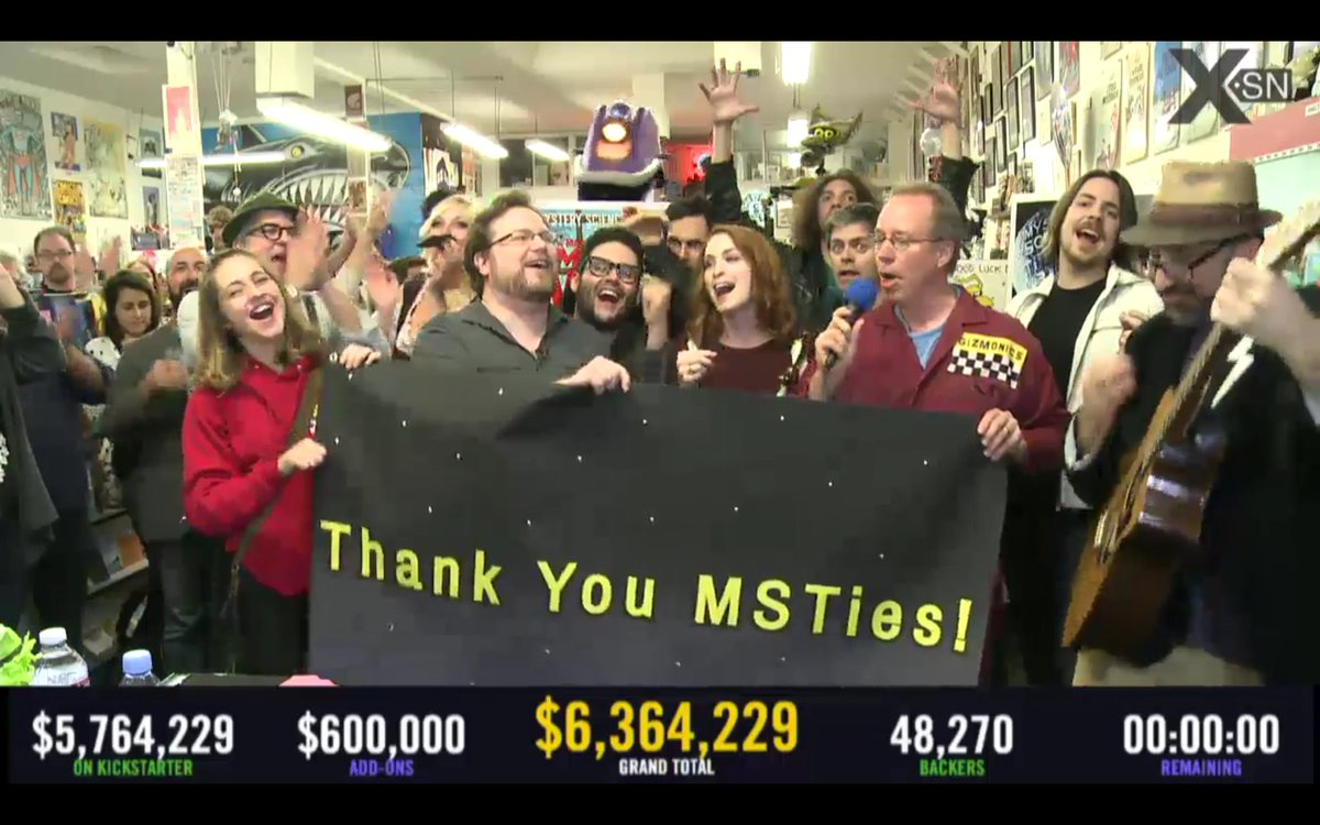 It is done, with $6.3 million, 14 episodes! #BringBackMST3K https://t.co/Ylt1siOL07