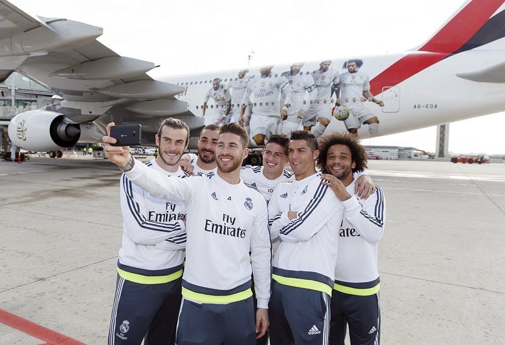 Emirates reveals @realmadrid @airbus A380 (A6-EOA). Flew first to Madrid yest. #HalaMadrid https://t.co/a2DLvjSoVJ