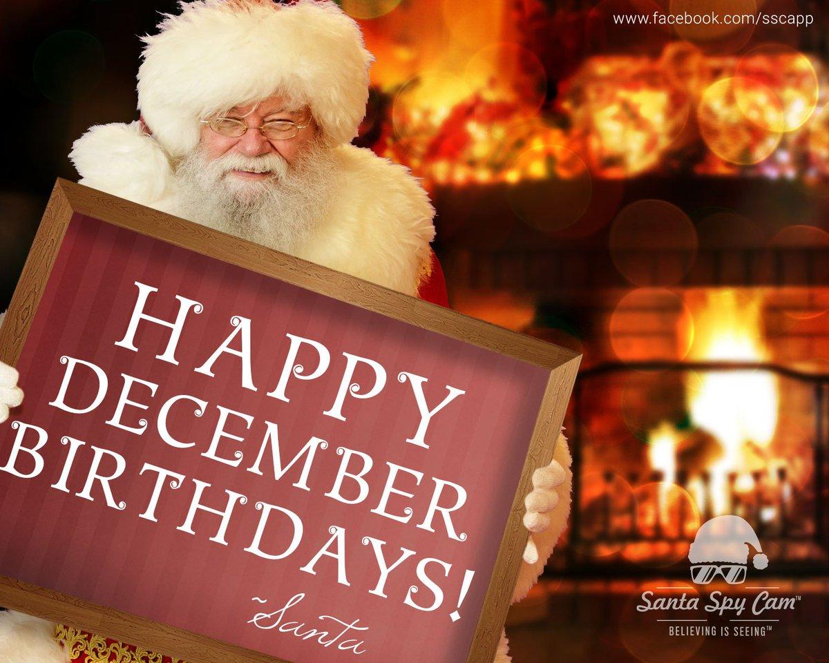 Happy Birthday December Santa Spy Cam A...