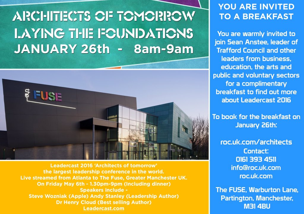 To find out more about Leadercast  pls join us for breakfast @TheFuseROC on January 26th  @seananstee @debrajgreen
