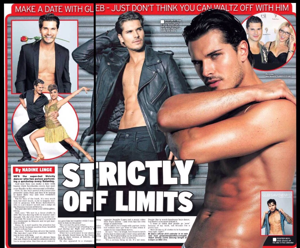 Exclusive @Gleb_Savchenko calendar pics in today's @Daily_Star @josephsinclair @nadinelinge @Celebrity_Merch https://t.co/UQZi0n0pMx