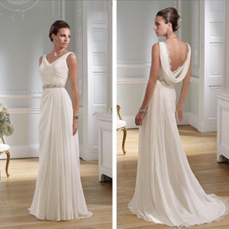 Custom Made Wedding Dress Greek Inspired: ギリシャ ドレス