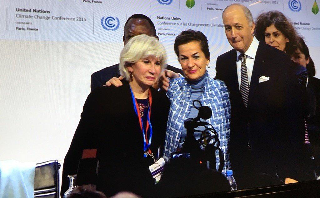 #COP21 und dann ging es ganz schnell...unglaubliche Stimmung, Tränen, Jubel... #ParisAgreement https://t.co/XcL7D58y5f