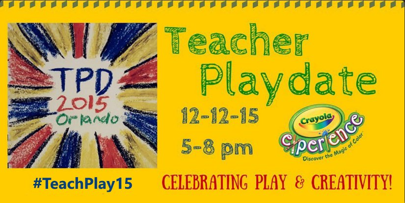 Today is the day! Ready to celebrate PLAY in learning! #teachplay2015 @MagicPantsJones https://t.co/oOP8hFOZW1