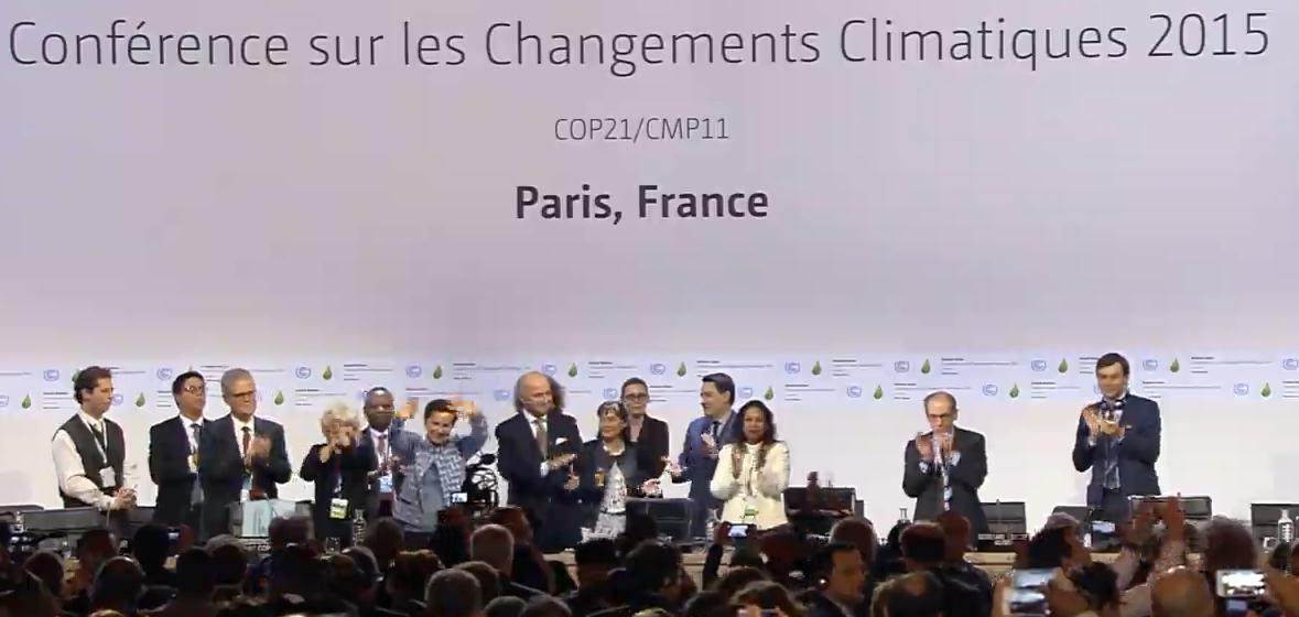 We have made history together! #ParisAgreement at #COP21 unites the world for a better future https://t.co/FWDZA6Wett