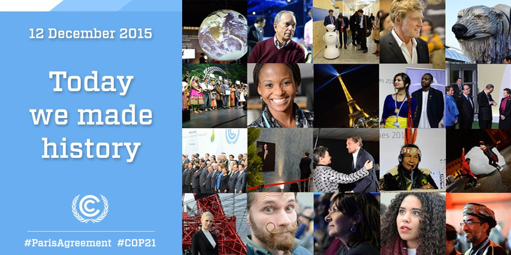 7 billion people. 195 countries. One #ParisAgreement toward a better future for all. #COP21 https://t.co/DhH4eOxiZ4