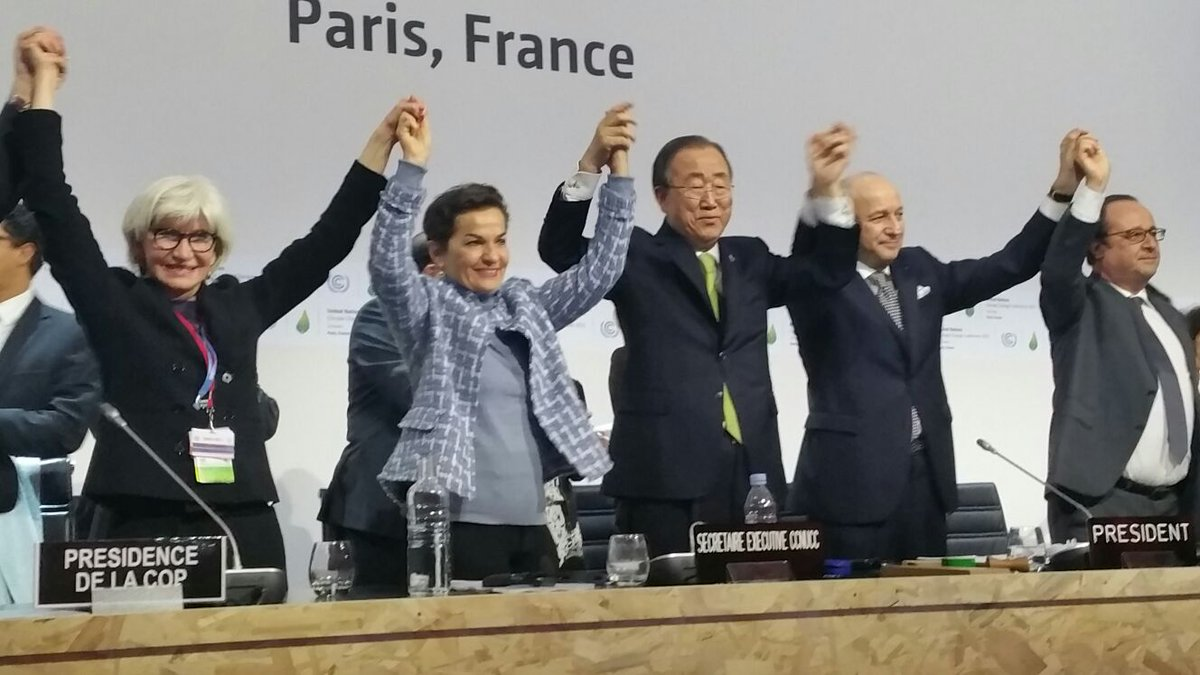 Thumbnail for Paris 2015/COP21 : les réactions à l'accord de Paris (12.12.2015)