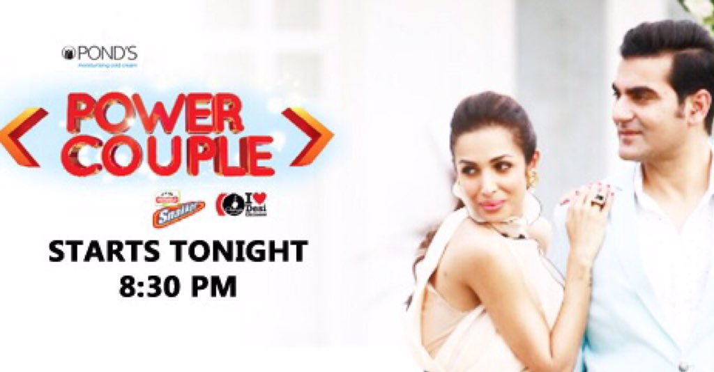 Watch Malaika and me in a new exciting reality show #powercouple. The fun begins tonight 8.30pm @SonyTv https://t.co/F4CuMlKoV6