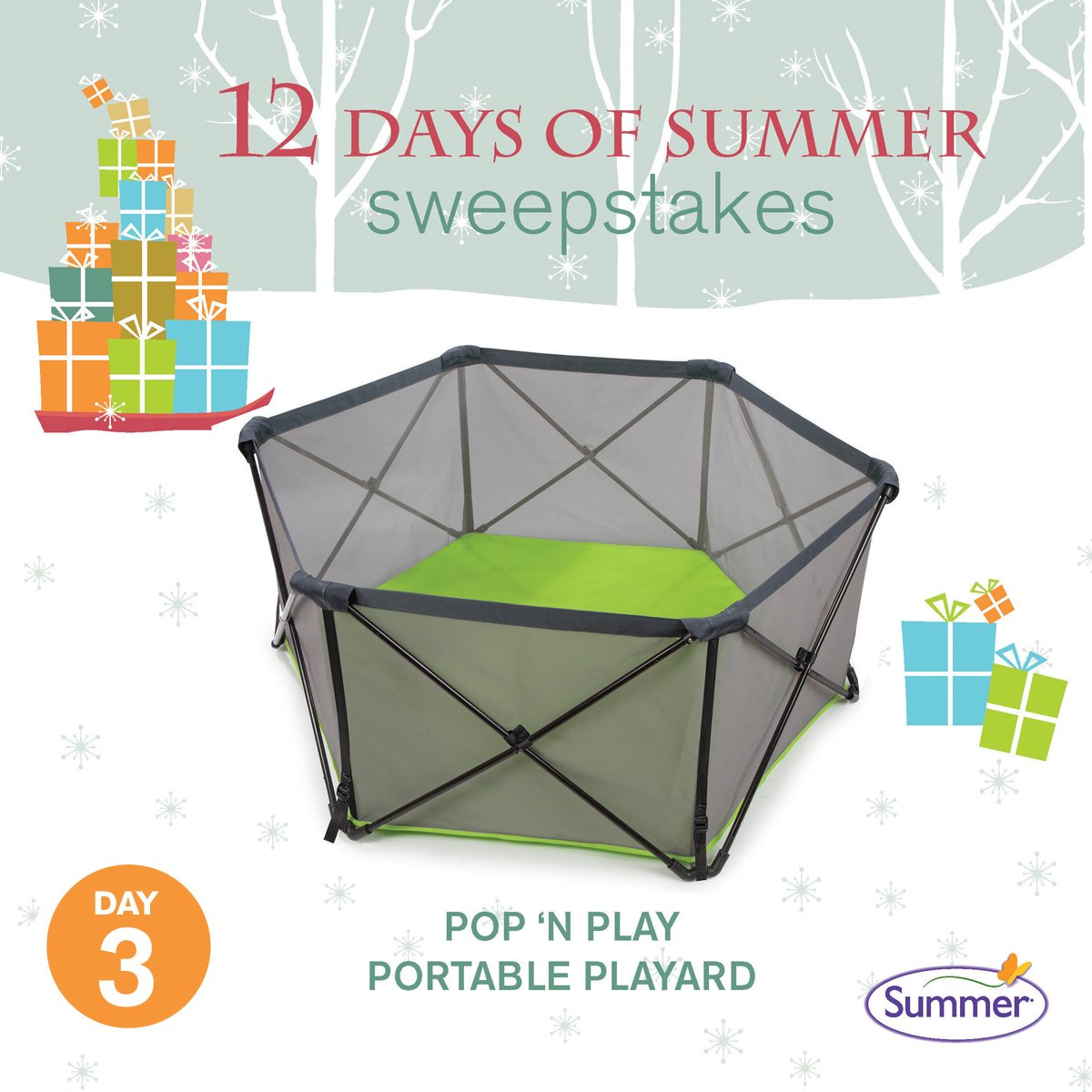 ENTER TO WIN! Today's prize: Pop 'n Play Portable Playard. Enter here: (https://t.co/CKSlsGifik) #12DaysofSummer https://t.co/cKDGAk3Zph