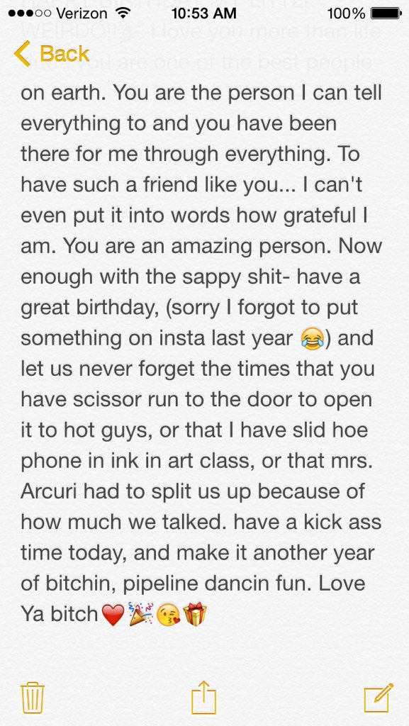 best friend paragraph tumblr on quot ahhh happy birthday gwen4764 i 19144 | CWCWwuIVAAA5rTy
