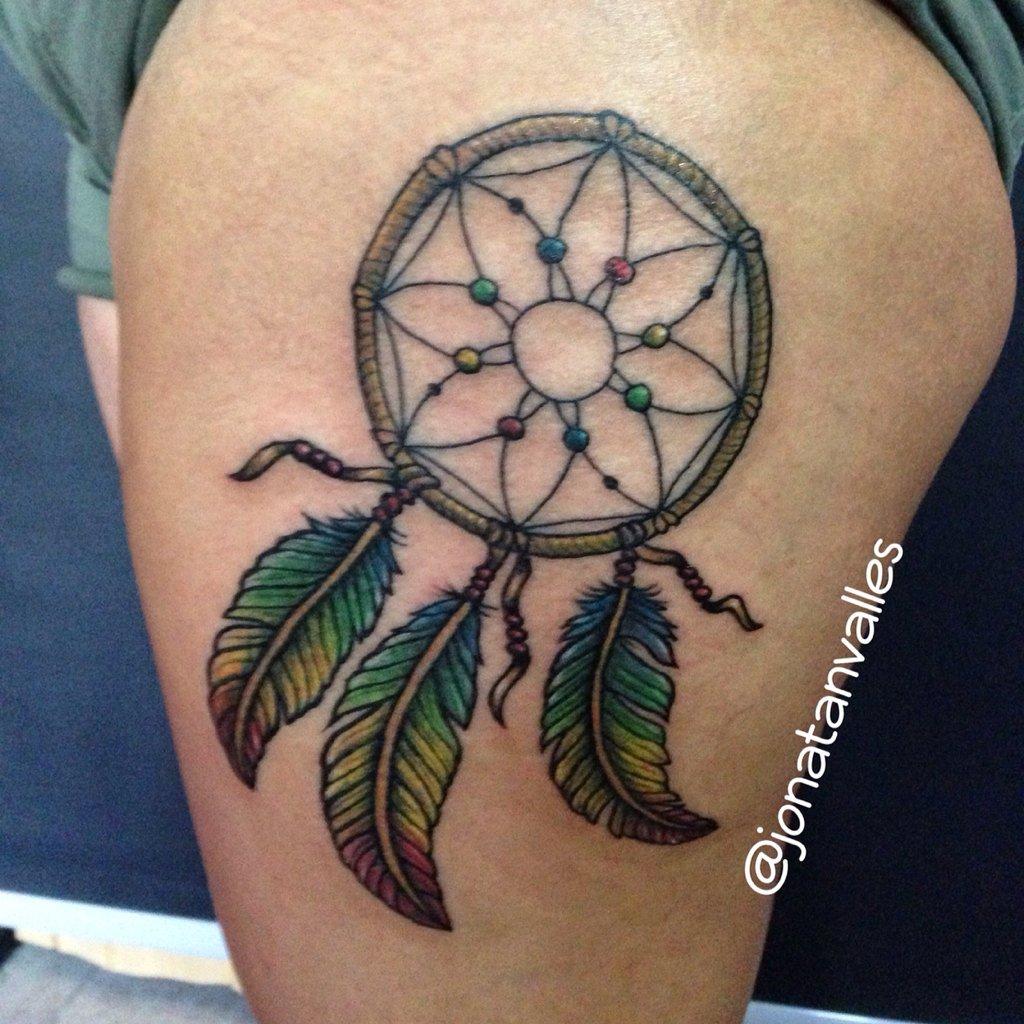 Jonatan Valles P On Twitter Atrapasueños Plumas Tatuaje Color