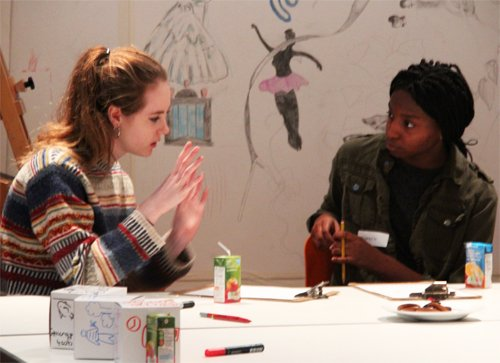 Teens discuss biographical comics at Dulwich Picture Gallery