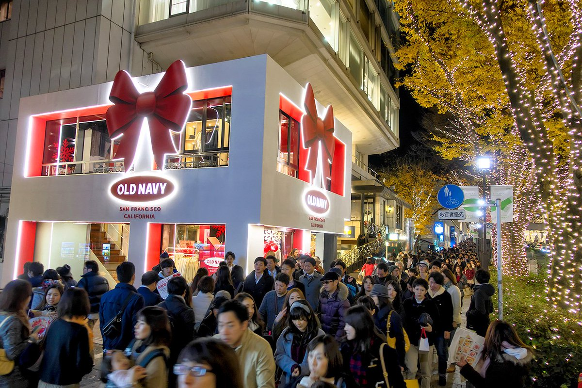 A cute looking old navy christmas popup shop opened in harajuku this ...