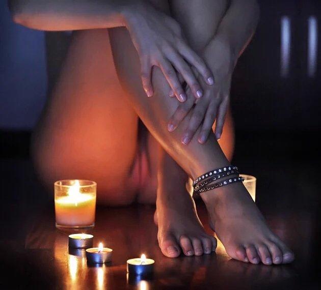 фото страстный массаж при свечах - 14