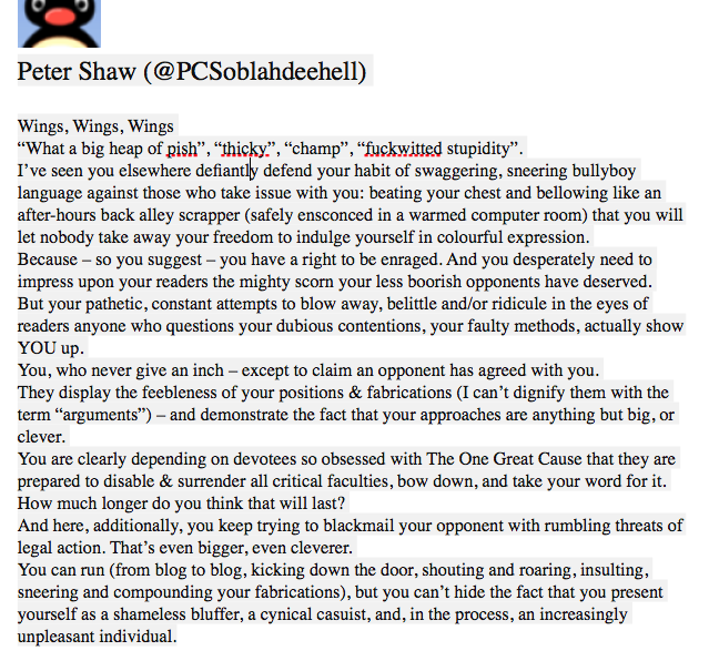 The most fantastic, bang-on description of Wings I have ever seen, by @PCSoblahdeehell on @DrScottThinks blog: https://t.co/dcaT1L9RpG