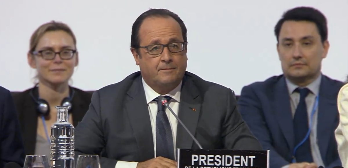 #Cop21: @FHollande: France will take the lead in establishing a coalition of the willing to establish a #carbonprice https://t.co/5zVqt4AGCN
