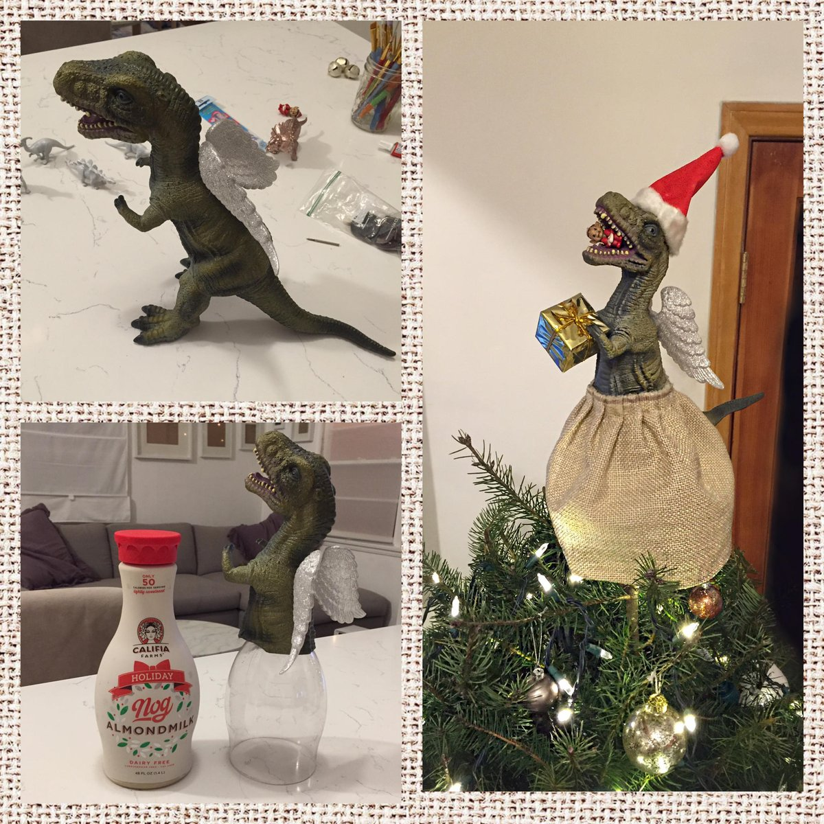 Aimee Teegarden On Twitter Love How My Dinosaur Tree Topper Turned Out Diy Treetopper Dinolover Https T Co Erm1ijaqf0