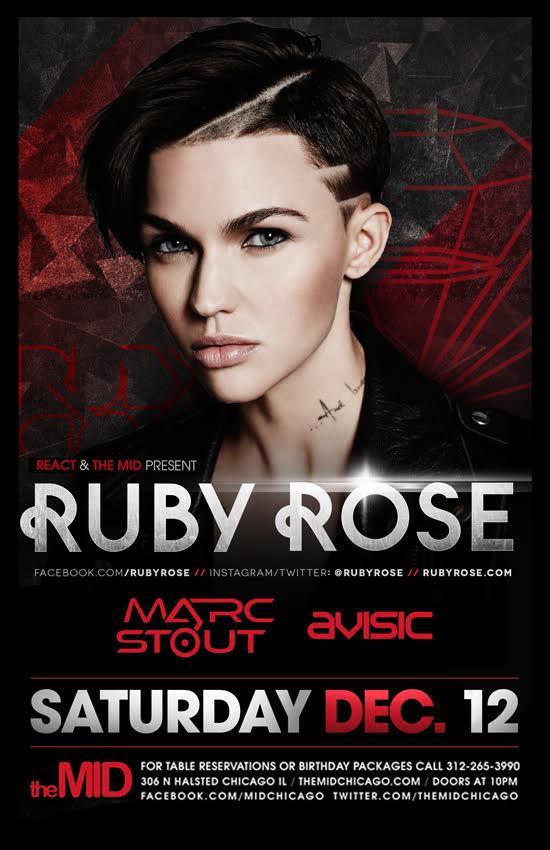 sold out show tonight @themidchicago! I'll be warming up the girls for @RubyRose. i mean decks. warming up the decks https://t.co/3ZrY2YzxbK