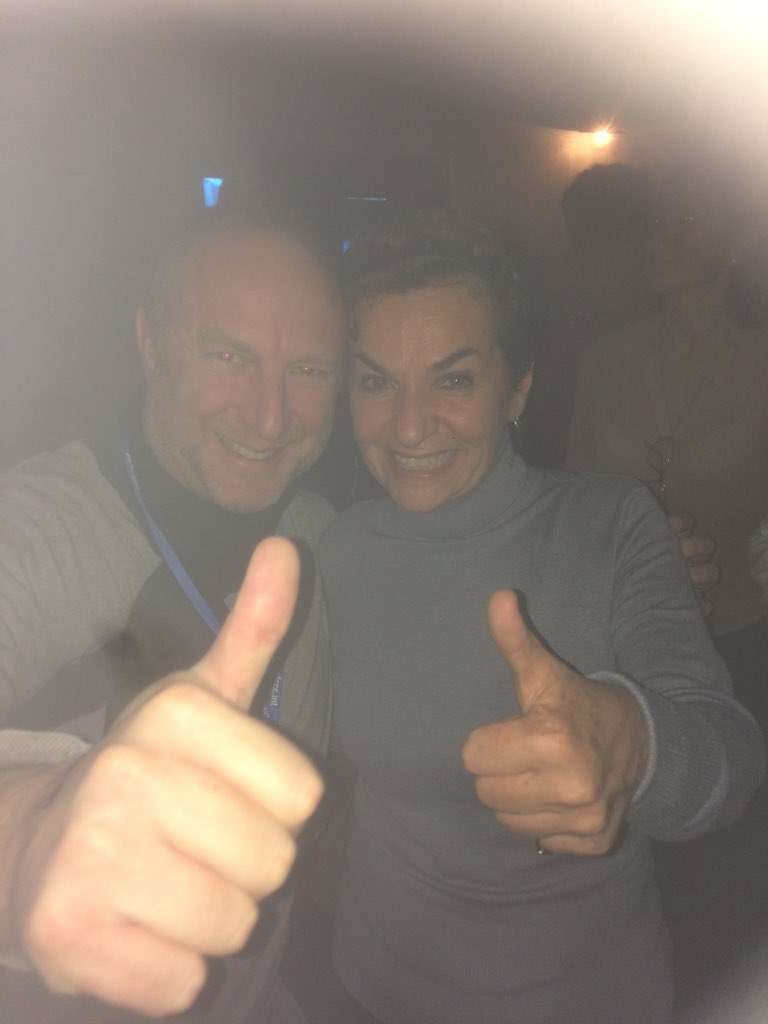 Clubbing with Christiana Figueres, #Cop21 superstar, at the NGO party after an amazing day at the UN Climate Summit. https://t.co/z5uqAOgLvZ
