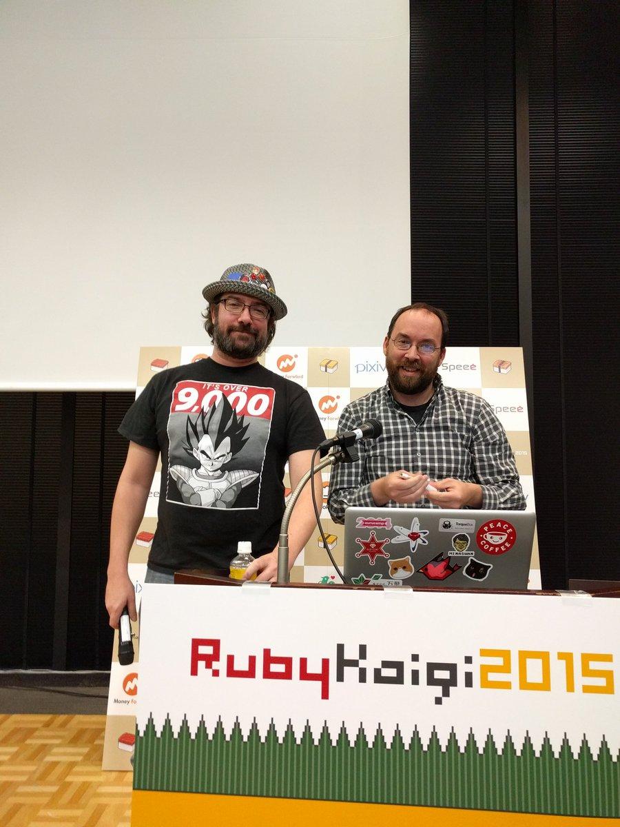 JRuby guys at #rubykaigi https://t.co/cHAK3C7fcL