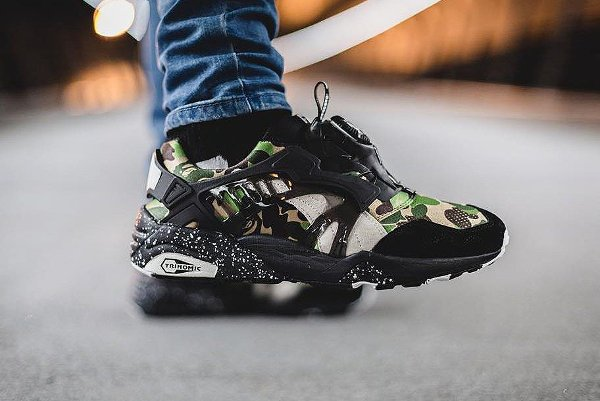 new arrival 0e848 85fbe ... real icymi the bape x puma disc blaze camo are available in select  sizes via end