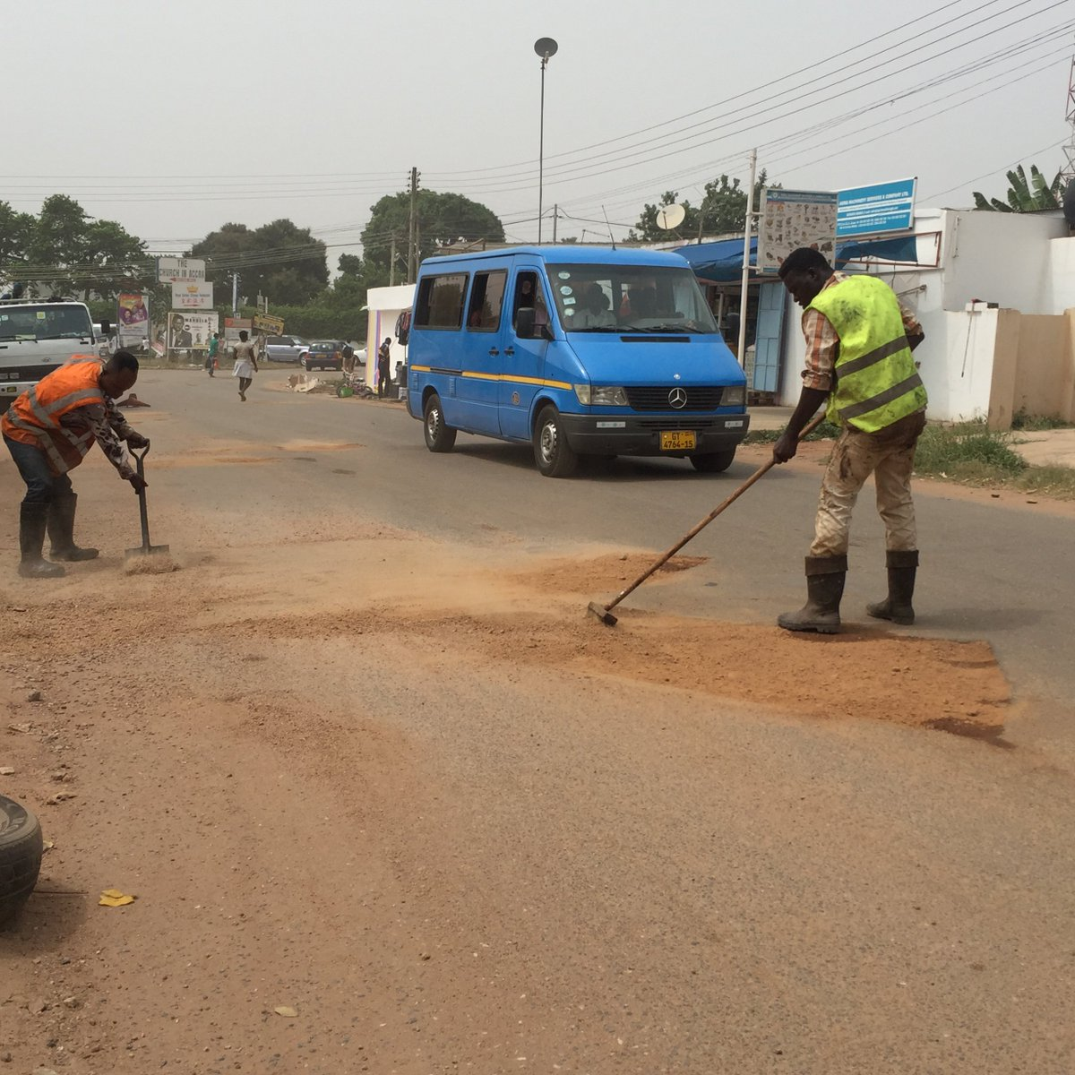 You construct bad roads, then you hire people to patch them and call it youth employment. How sick are we? #Ghana https://t.co/8b3s423k7u