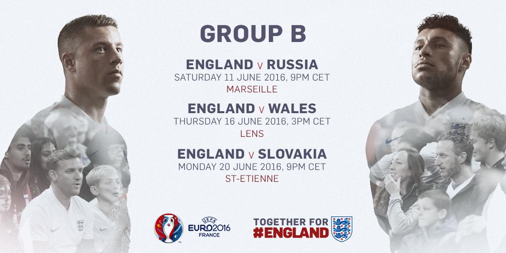 England fixtures euro 2016