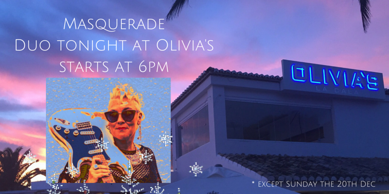 RT @oliviaslacala: Tonight Masquerade at Olivia's.  Book your table now Tel:952 49 49 35 #thebest #rocks #livemusic @elliottwright_ https:/…