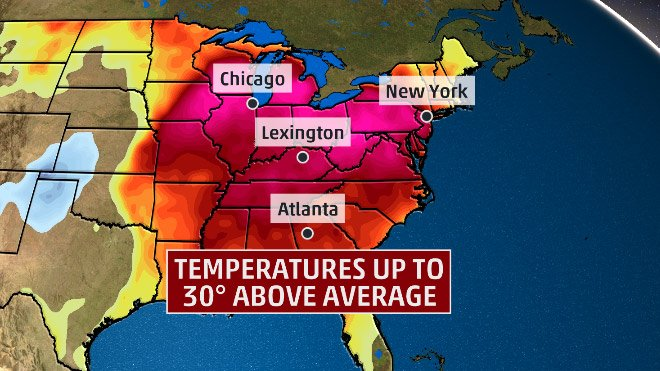Just like yesterday, record high temperatures have been set this AM in some Midwest cities: https://t.co/ZRE0XCFgs4 https://t.co/YsqJNQbgLH