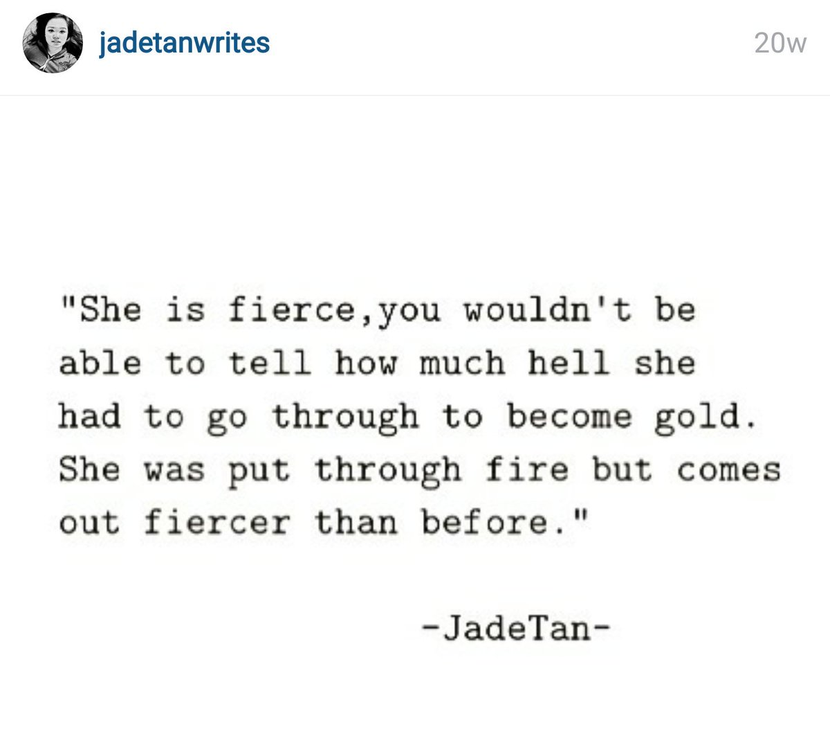 Jade Tan On Twitter I Am Fierce Jadetanwrites Quotes Poems