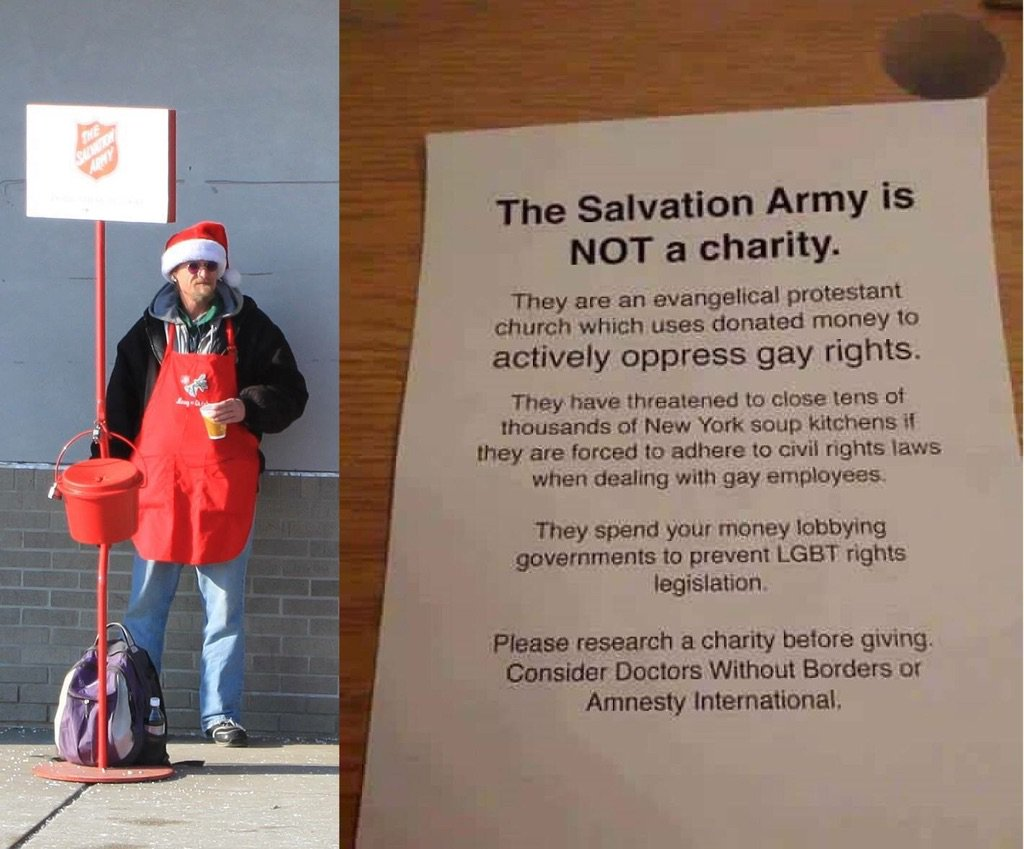 Worth reminding folks of this every holiday season. #boycottsalvationarmy https://t.co/9h0xnEkvgK