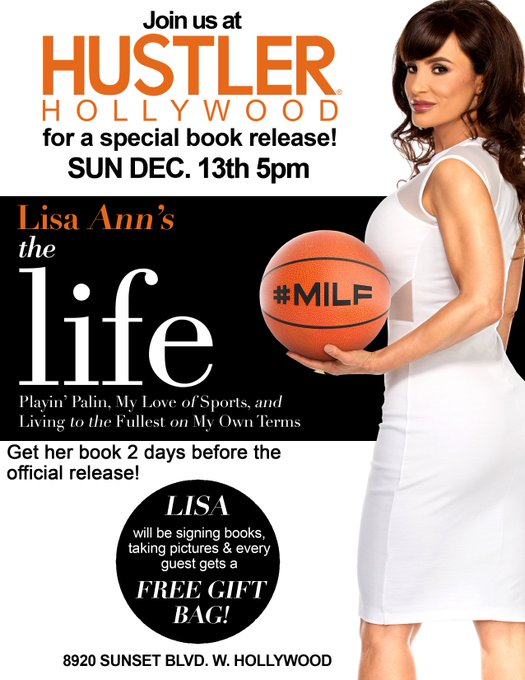 Hustler Hollywood is hosting a special #book release of @thereallisaann new book The Life today! https://t