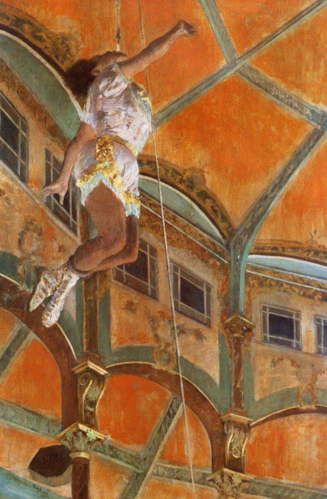 """@DailyArtApp:acrobat Miss La La caused a sensation when she performed at the Cirque Degas 1879 https://t.co/9RKktu151M"" @GiantSweetTart"