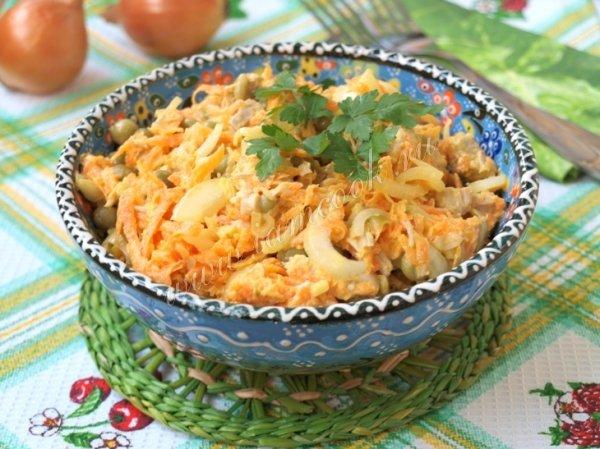 Рецепты салатов со сметаной