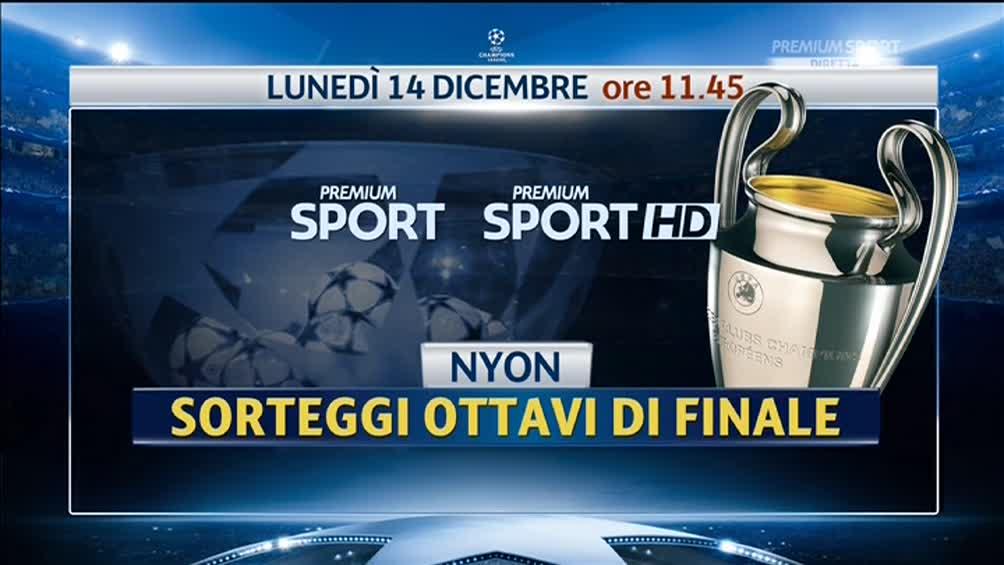 Sorteggi Champions League in Diretta con Premium Sport