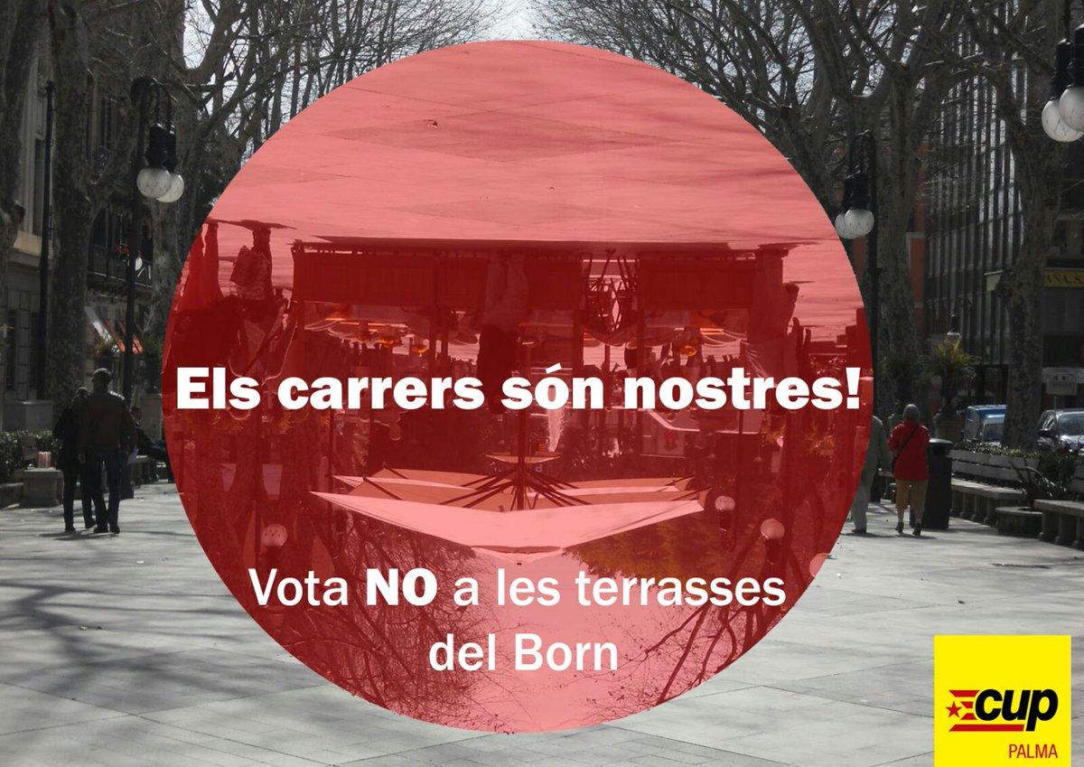 Els carrers són nostres! Vota no a les terrasses del Born