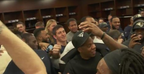 Cowboys Locker Room After Lions Win