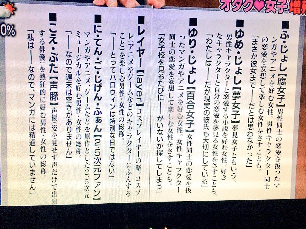 【オタク女子】NHKで丁寧にご紹介される!