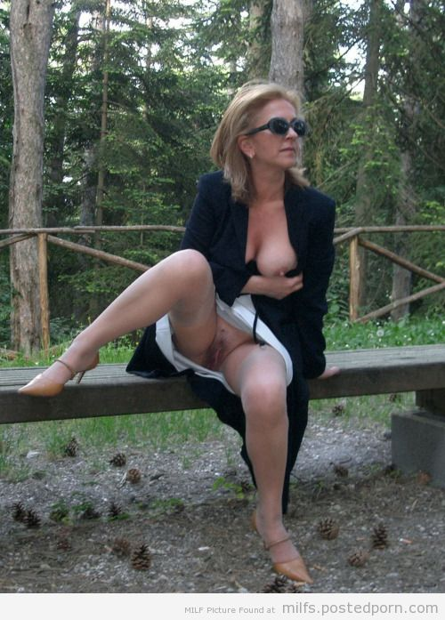 Milf in woods