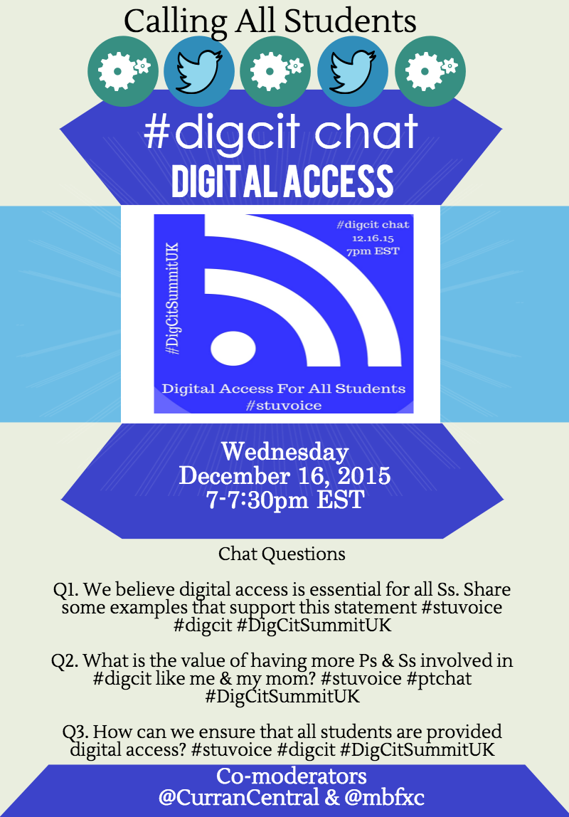 Tonight we'll be discussing digital access for all students everywhere #stuvoice #digcit #DigCitSummitUK https://t.co/BMtLiRTfzm