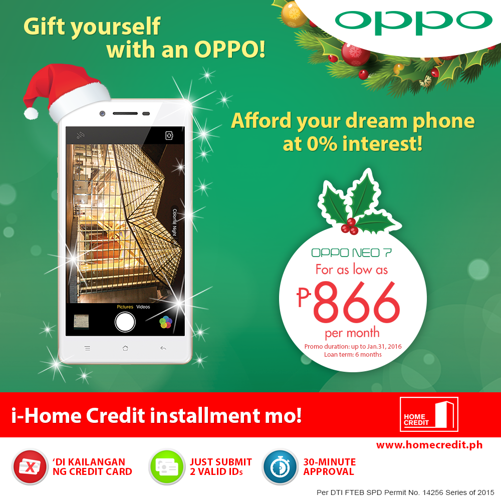Home Credit Ph On Twitter Get Your Oppo Neo 7 At 0 Interest