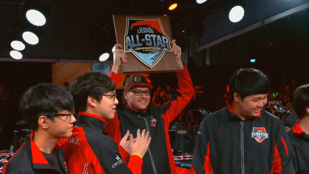 """LoL Esportspedia on Twitter: """"Congratulations to Team Fire! #AllStar  #FireWin https://t.co/kHx0E57vU2"""""""