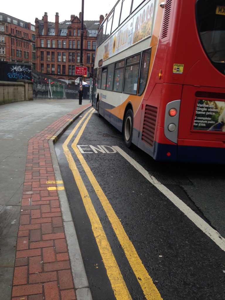 More brand new world class 'We Don't Really Give A Toss About Cycling Infra' in Mcr. @GMcycling @MadCycleLaneMCR https://t.co/wgX2NOB6bx