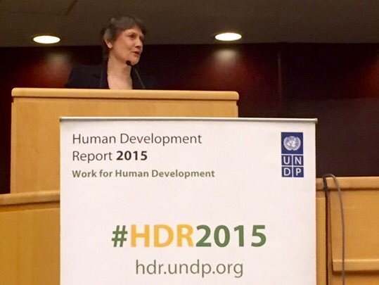 Spoke at launch of #HDR2015 in Addis Ababa just now: focus on how to ensure work is positive for #humandevelopment. https://t.co/VwD6x8RMbp