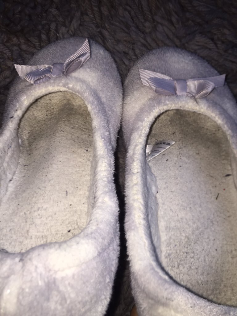 Well Worn Ballet Flats Smelly With Heavy Foot Marks