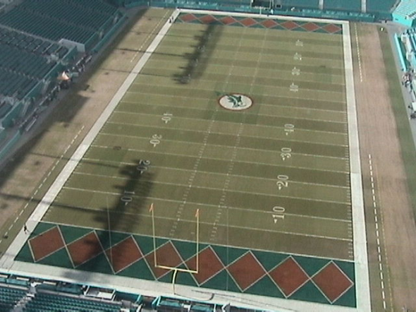 It s a throwback uniform night for the Miami  Dolphins -- even their field  is going retro  ... a759f13f4