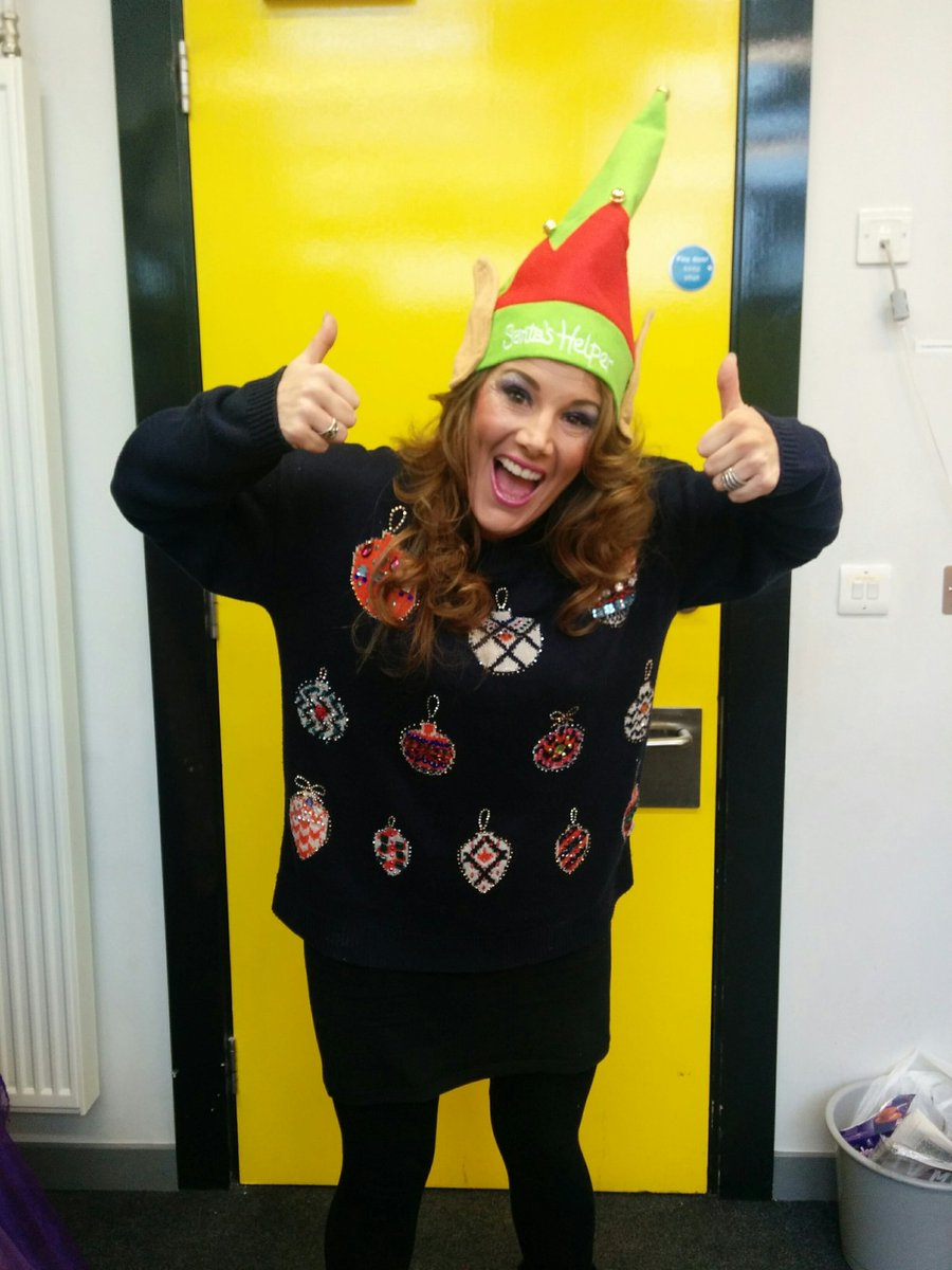 It's official! @SamBaileyREAL is swapping fairy wings for Xmas jumper Fri for @ITVTextSanta Join the fun! #Charity https://t.co/zp2s2XB1oa