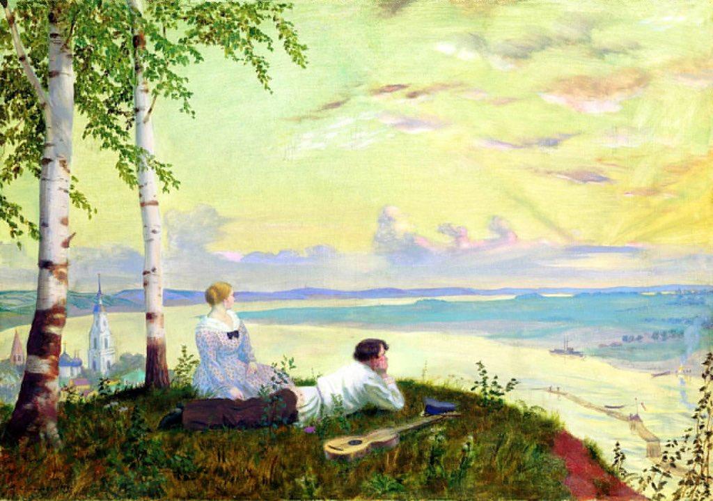 Борис Кустодиев «На Волге» ボリス・クストーディエフ『ヴォルガ川にて』(1922)